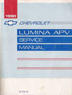 auto repair manual online 1992 chevrolet lumina apv parking system 1990 chevrolet lumina apv minivan factory service manual