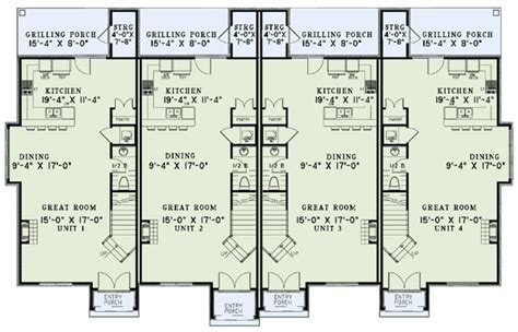 4 plex apartment plans french country four plex 60620nd 2nd floor master