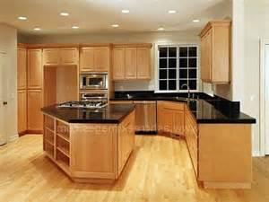 granite countertops on maple cabinets black granite