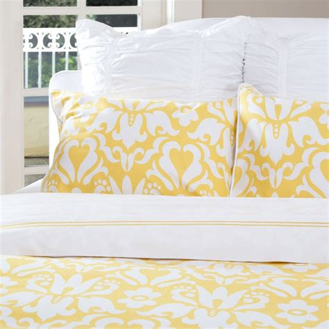 yellow pattern duvet cover damask duvet cover the montgomery yellow crane canopy