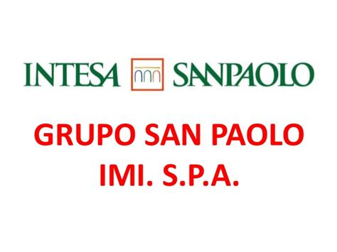 banco s paolo grupo san paolo banco de italia