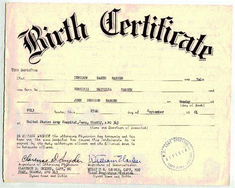 blank birth certificate template blank birth certificate template