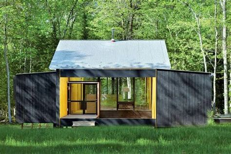 Prefab Cottage by Minimalist Prefab Cottage Modern Design In Small Forest Top 7 Unique House Design