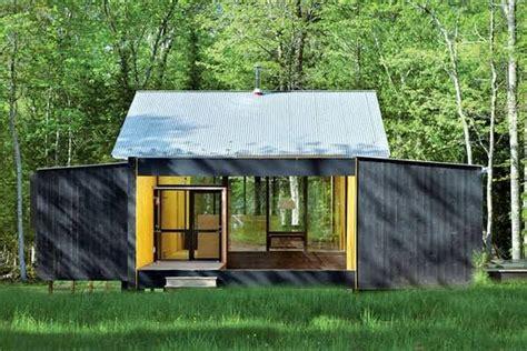 prefab cottage minimalist prefab cottage modern design in small forest