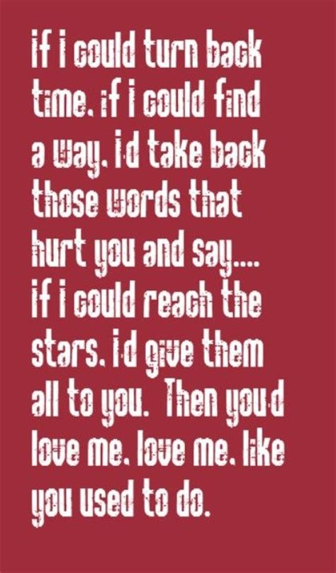 If I Could Turn Back Time by Cher If I Could Turn Back Time Song Lyrics Song