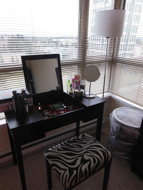 black makeup vanity table storage set small black makeup vanity table storage set with lighting and zebra