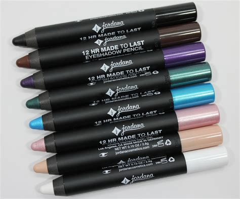 Eyeshadow Pensil jordana 12 hr made to last eyeshadow pencil swatches and review vy varnish