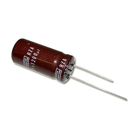 capacitor nippon rza1200mfd25v nippon capacitor 1 200uf 25v aluminum electrolytic radial high temp 2020000954