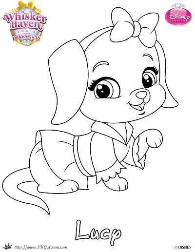 coloring pages princess pets free palace pets fern coloring pages