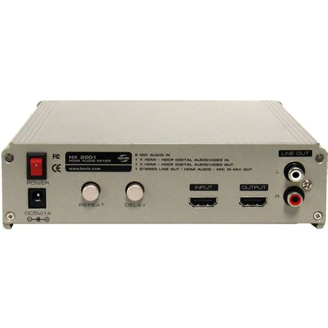 Mixer Audio Dat kevic hx 2001 hdmi 1 3 1 4a audio mixer with key and echo repeat delay ebay