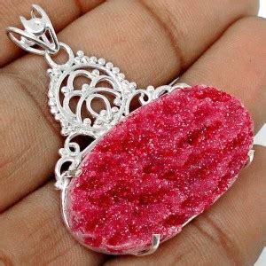 Liontin Batu Rubby jual kalung silver dengan liontin batu ruby druzy 22 30 carat