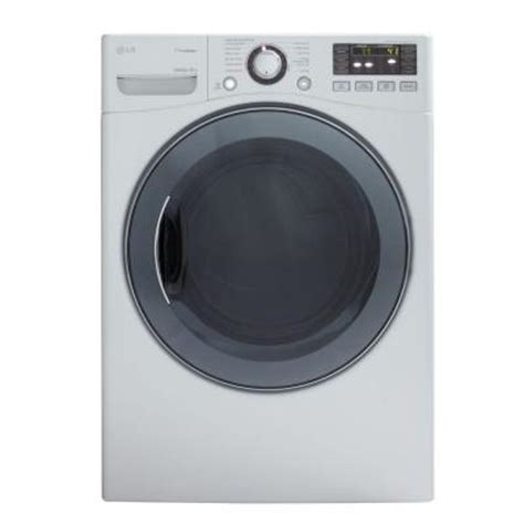 lg electronics 7 4 cu ft electric dryer with steam in white