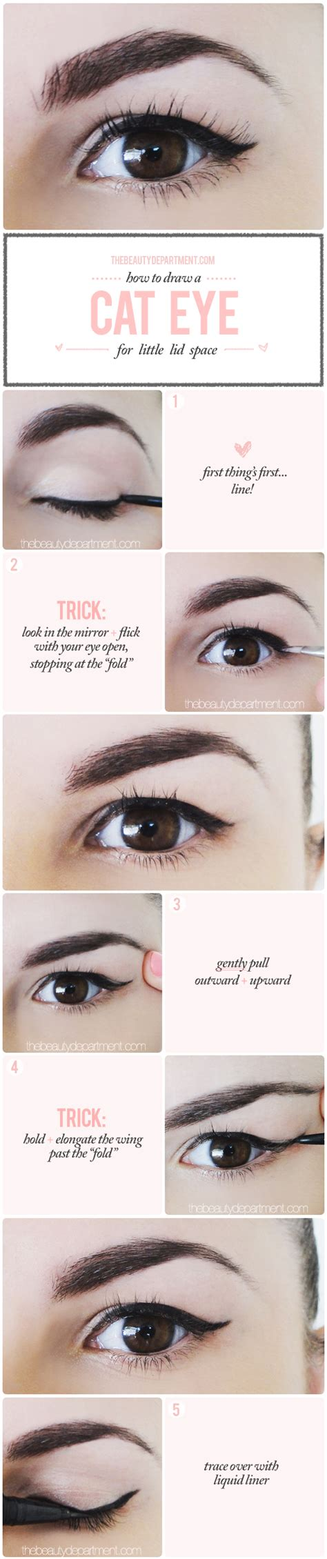 eyeliner tutorial for droopy eyes the beauty department your daily dose of pretty winged