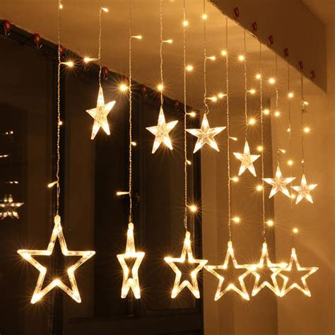 battery led curtain lights aliexpress com buy 2m 220v curtain star string lights