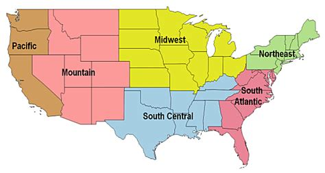 us map divided south east west map of us divided into regions cdoovision