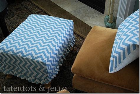 ottoman slipcover tutorial fast and easy pleated ruffle ottoman slipcover tutorial