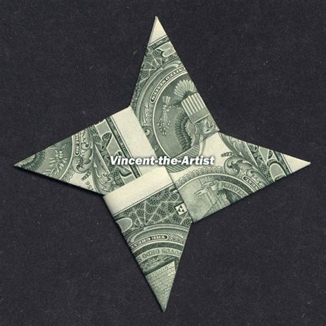 Easy Money Origami For - money origami 4 point dollar bill made