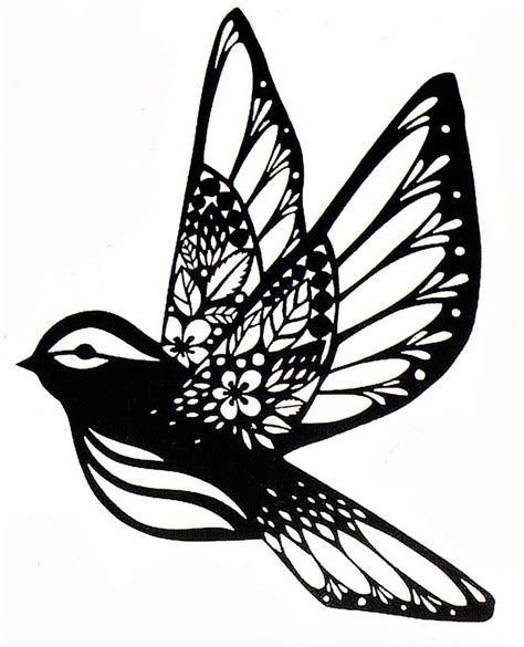 Sparrow Paper Cut Fx Paper Cut Stencil Silhouette Quilling Pinterest Workshop Silhouette Templates For Paper Cutting