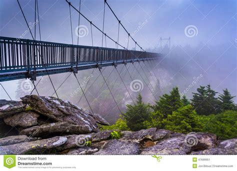 swinging bridge nc the mile high swinging bridge in fog at grandfather
