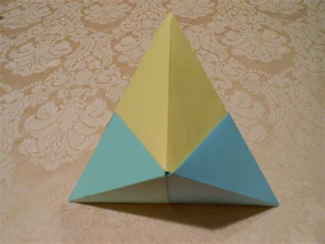 How To Make 3d Triangle With Paper - how to make an origami 3d triangle hd