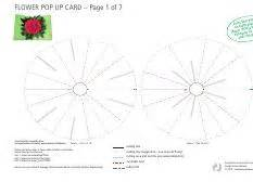flower pop up card template free flower pop up card template color flower pop up card