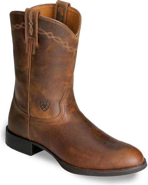mens roper cowboy boots ariat s heritage roper cowboy boot 10002284 ebay