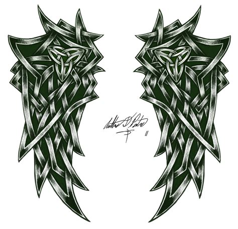 celtic angel tattoo designs celtic wings by torvald2000 on deviantart