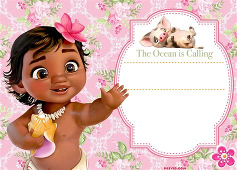 moana birthday card template free moana birthday invitation template free invitation