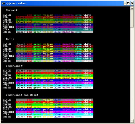 ansi color codes bdp win32 console ansi