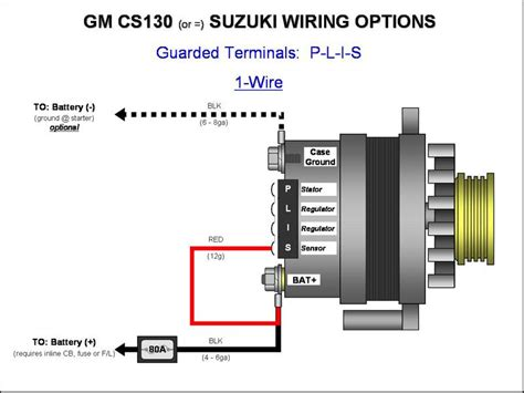 cs130 gm alternator 105a wiring help