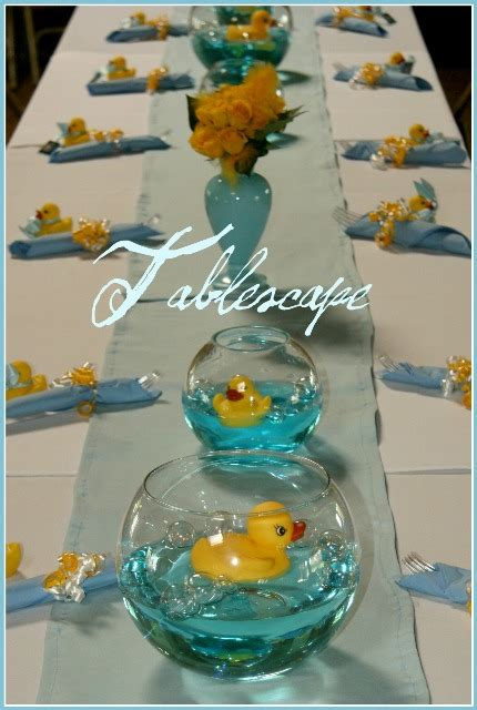 Baby Shower Table Centerpieces Boy by Baby Shower Center Pieces Grils Rubber Duck