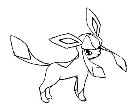glaceon and leafeon coloring pages