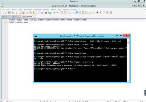 reset mysql root password windows w mysql root password reset not working stack overflow