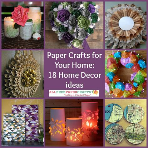 craft ideas to decorate your home paper crafts for your home 18 home decor ideas allfreepapercrafts