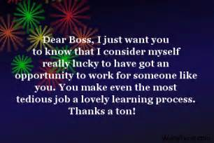 Thank You Letter To Wonderful Boss Thank You Boss Quotes Inspirational Quotesgram