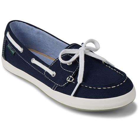 canvas boat shoes womens eastland women s skip canvas slip on boat shoes 674358
