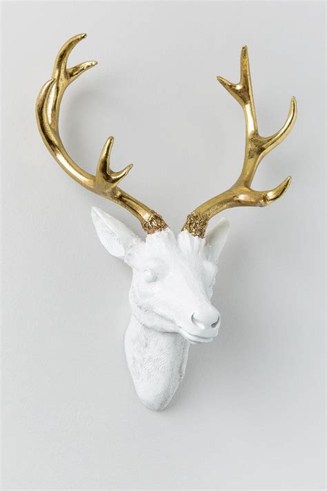 Deer Antler Wall Decor by Gold Antler Resin Deer Wall Decor S