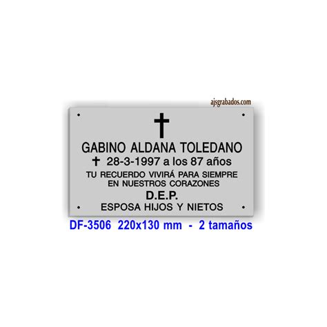 modelos de cruz para difuntos placa para difuntos aluminio anodizado plata grabada 6