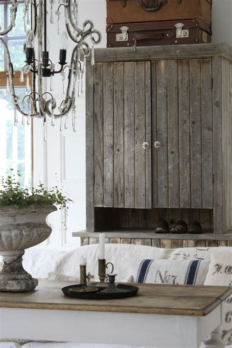 rustic cabinet french linens table shabby chic french