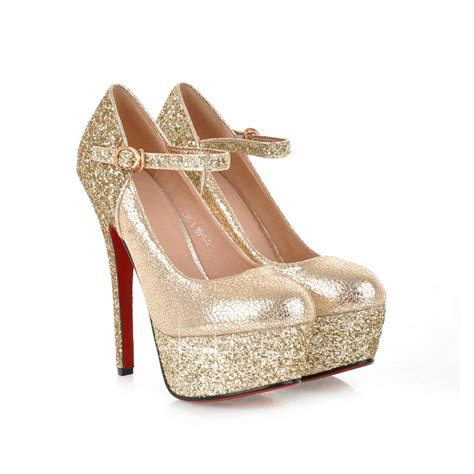 Pumps Heels Glossy K0405 armoire brand new gold sliver fashion platform