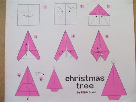 origami christmas decorations step by step simple origami trees the craft fantastic