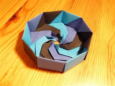 Origami Nut - origami nut 187 nine sided enneagonal box