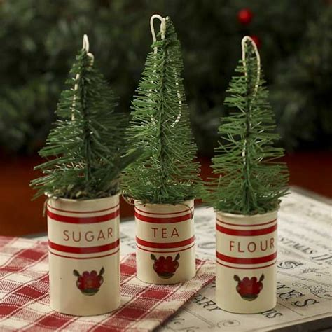 miniature canister christmas tree ornaments christmas