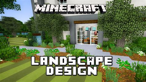 home landscape design youtube minecraft tutorial garden landscape design modern house