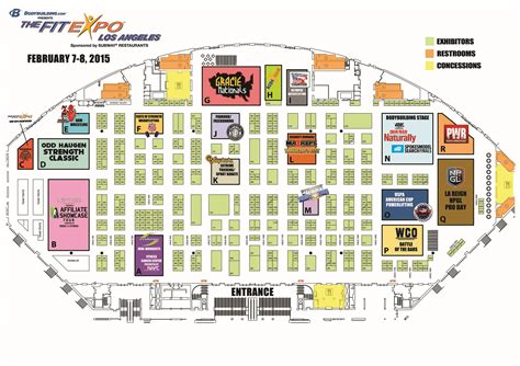 la fitness floor plan thefitexpo los angeles southern california s once a year