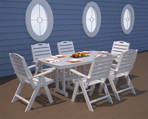 Nautical Patio Furniture Nautical 37in X 72in Rectangle Table Recycled Outdoor Furniture Nct3772