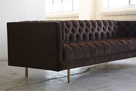 modern tufted sofa velvet modern deeply button tufted velvet custom tuxedo sofa by
