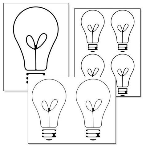 Printable Light Bulb Template From Printabletreats Com Shapes And Templates Printables Light Bulb Template