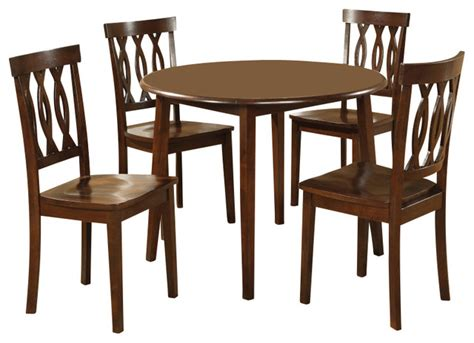 piece 42 inch round dining room set in antique oak steve silver branson 5 piece double drop leaf 42 inch