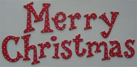 doodlebug red polka dots merry christmas title alphabet chipboard letters ebay